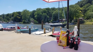 Eat out on the deck at The Old Boat House